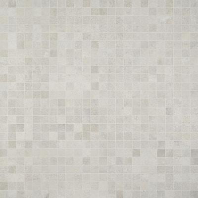 Hudson Silver 11.72 in. x 11.72 in. Matte Porcelain Mosaic Tile (0.96 sq. ft./Sheet)
