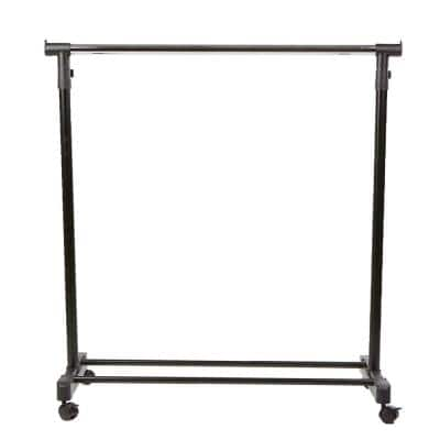 Silver Metal Clothes Rack 33.75 in. W x 69.5 in. H