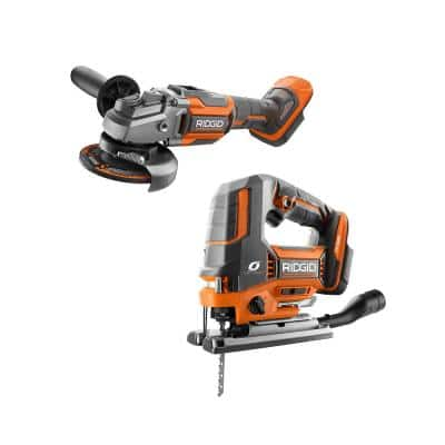 18V OCTANE Brushless Cordless 2-Tool Combo Kit with Jig Saw and 4-1/2 in. Angle Grinder (Tools Only)
