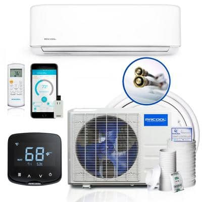 DIY 23,000 BTU 2 Ton 20 SEER E-STAR Ductless Mini Split A/C with Heat Pump with 25 ft. Install Kit and MiniStat 230V