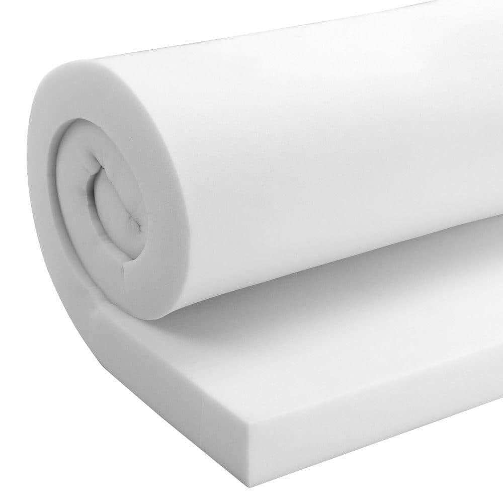 FoamTouch High Density Custom Cut Upholstery Foam Seat Cushion 6 inch Thick by 24 inch Wide by 36 inch Long