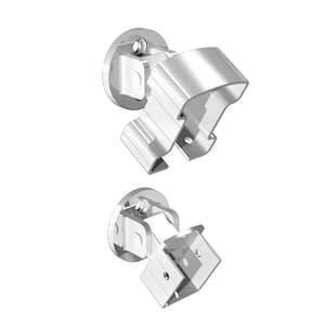 White Aluminum Stair Hand and Base Rail Bracket
