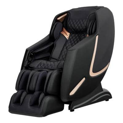 Prestige Black Faux Leather Reclining Massage Chair with 3D Massage and BlueTooth Speakers