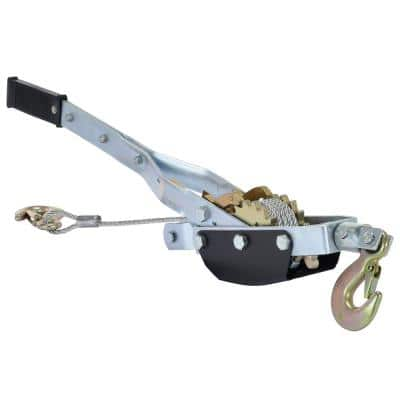 2,000 lbs. Capacity Galvanized Cable Puller 2-Speed
