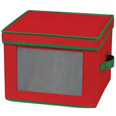 12-Qt. Dinner Plate Storage Box in Red