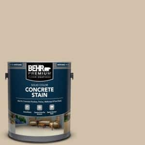 1 gal. #PFC-27 Light Rattan Solid Color Flat Interior/Exterior Concrete Stain