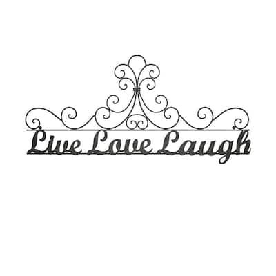 """Live Laugh Love"" Metal Cutout Sign"