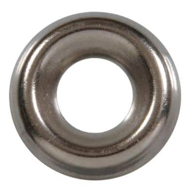 #8 Stainless Steel Finish Washer (8-Pack)