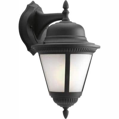 Westport Collection Wall Mount 19.5 in. Outdoor Black Wall Lantern Sconce