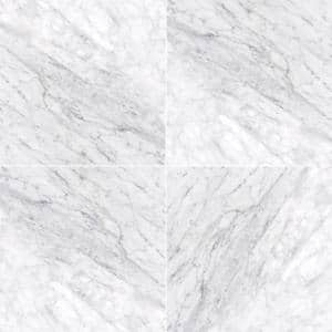 Carrara White 18 in. x 18 in. Honed Marble Floor and Wall Tile (13.5 sq. ft./Case)