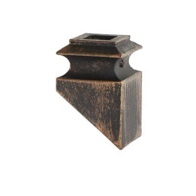 Oil Rubbed Bronze 34.3.2 Angled Base Shoes for 3/4 in. Square Mega 1.9 in. x 2.9 in. Iron Balusters for Stair Remodel