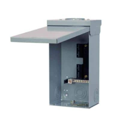 EQ 125 Amp 4-Space 8-Circuit Main Lug Outdoor Load Center