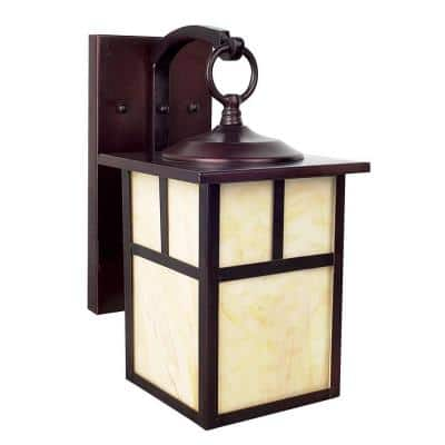 Craftsman 1-Light Rubbed Bronze Outdoor Lantern Sconce