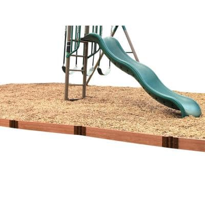 2 in. Series 16 ft. Classic Sienna Straight Composite Playground Border Kit