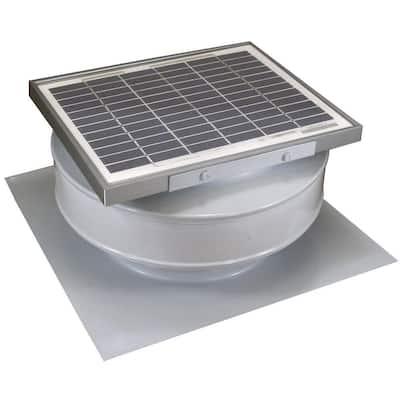 365 CFM White Powder Coated 5-Watt Solar Powered Roof Mounted Exhaust Attic Fan