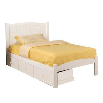 Caren Twin Bed in White