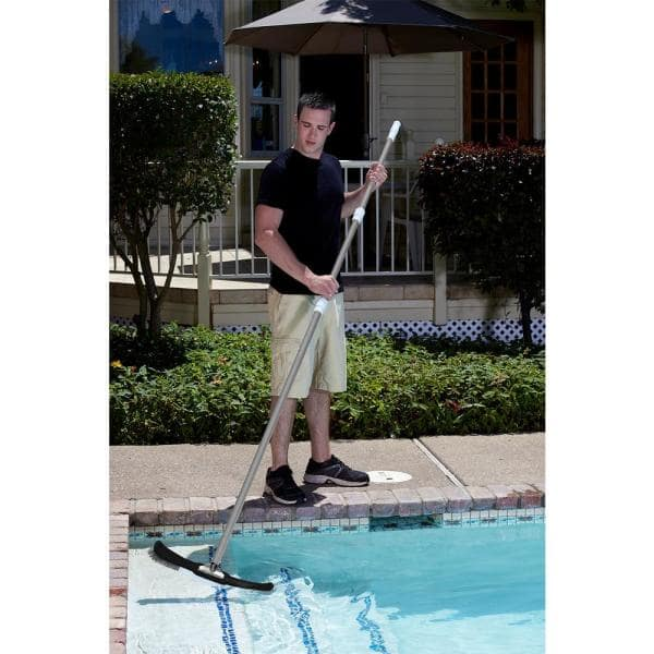 Poolmaster 15 Ft Telescopic Commercial Swimming Pool Pole 3 Piece 21305 The Home Depot