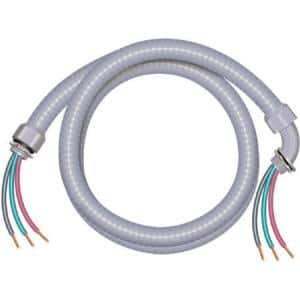 3/4 in. x 6 ft. 8/2 Ultra-Whip Liquidtight Flexible Non-Metallic PVC Conduit Cable Whip