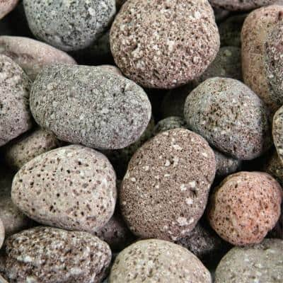 10 lbs. Red 2 in. to 4 in. Round Lava Rock - Fire Rock for Fire Pits and Fireplaces