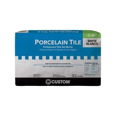 Porcelain Tile White 50 lb. Fortified Thinset Mortar