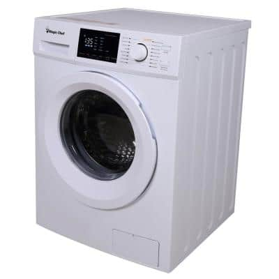 24 in. 2.7 cu. ft. Front Load Compact Washer in White