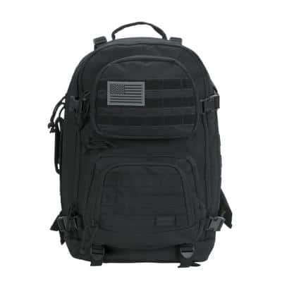 20 in. Black Military Tactical Laptop Backpack