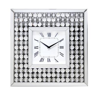 Rhaeger Silver Wall Clock