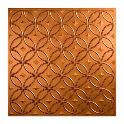 Rings 2 ft. x 2 ft. Antique Bronze Lay-In Vinyl Ceiling Tile (20 sq. ft.)