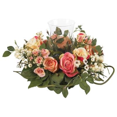 2 in. Rose Candelabrum Silk Flower Arrangement