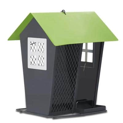 Gray and Lime Seed Duo Hanging Bird Feeder - 2 lb. Capacity