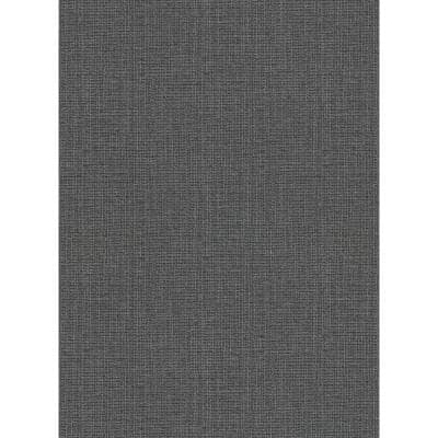 Claremont Charcoal Faux Grasscloth Charcoal Wallpaper Sample