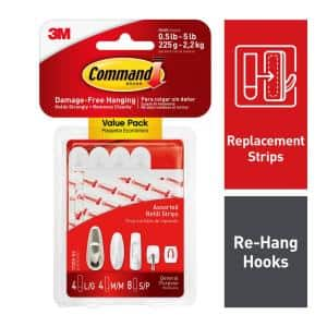 Assorted Refill Mounting Strips (4 Large, 4 Medium, 8 Small)