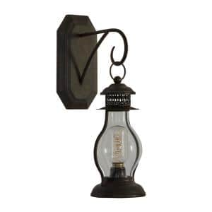 Black Metal Industrial Candle Wall Sconce