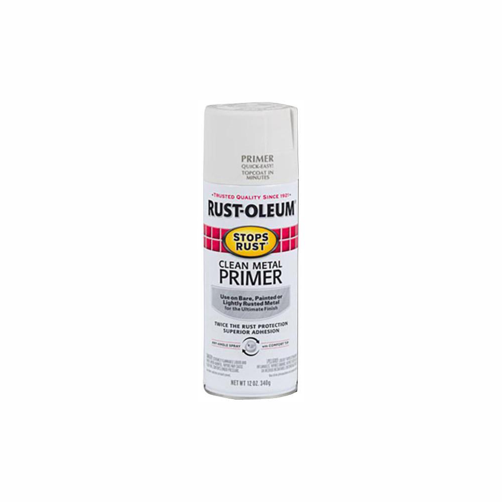 12 oz. Flat White Clean Metal Primer Spray (6-Pack)