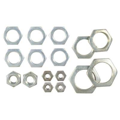 16 Assorted Steel Hex Nuts