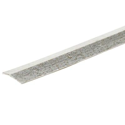 Silver Ha mm ered 144 in. x 2 in. Carpet Trim