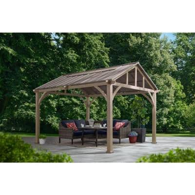 Lindmoore 10 ft. x 12 ft. Pitched Roof Steel Hard Top Gazebo