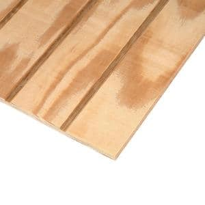 Plywood Siding Panel T1-11 4 IN OC (Nominal: 19/32 in. x 4 ft. x 8 ft.; Actual: 0.563 in. x 48 in. x 96 in.)