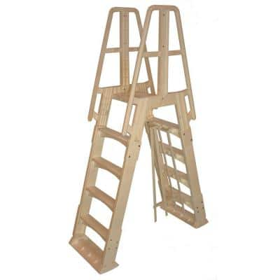 Premium A-Frame Above Ground Pool Ladder in Taupe