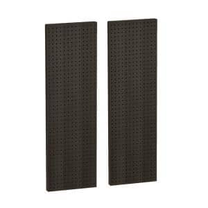 60 In H X 13 5 In W Pegboard Black Styrene One Sided Panel 2 Pieces Per Box 771360 Blk The Home Depot