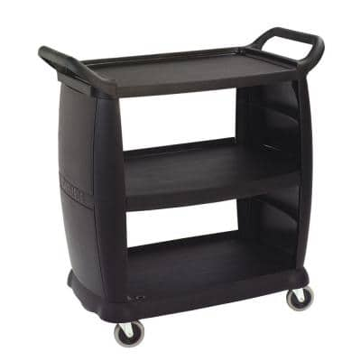 Small Black Bussing Cart