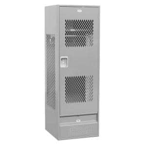 72000 Series 24 in. W x 72 in. H x 24 in. D Gear Metal Locker with Ventilated Door Assembled in Gray