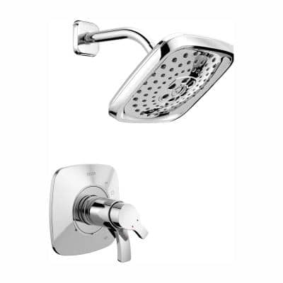 Tesla Single-Handle 3-Spray Shower Faucet Trim Kit in Chrome (Valve Not Included)