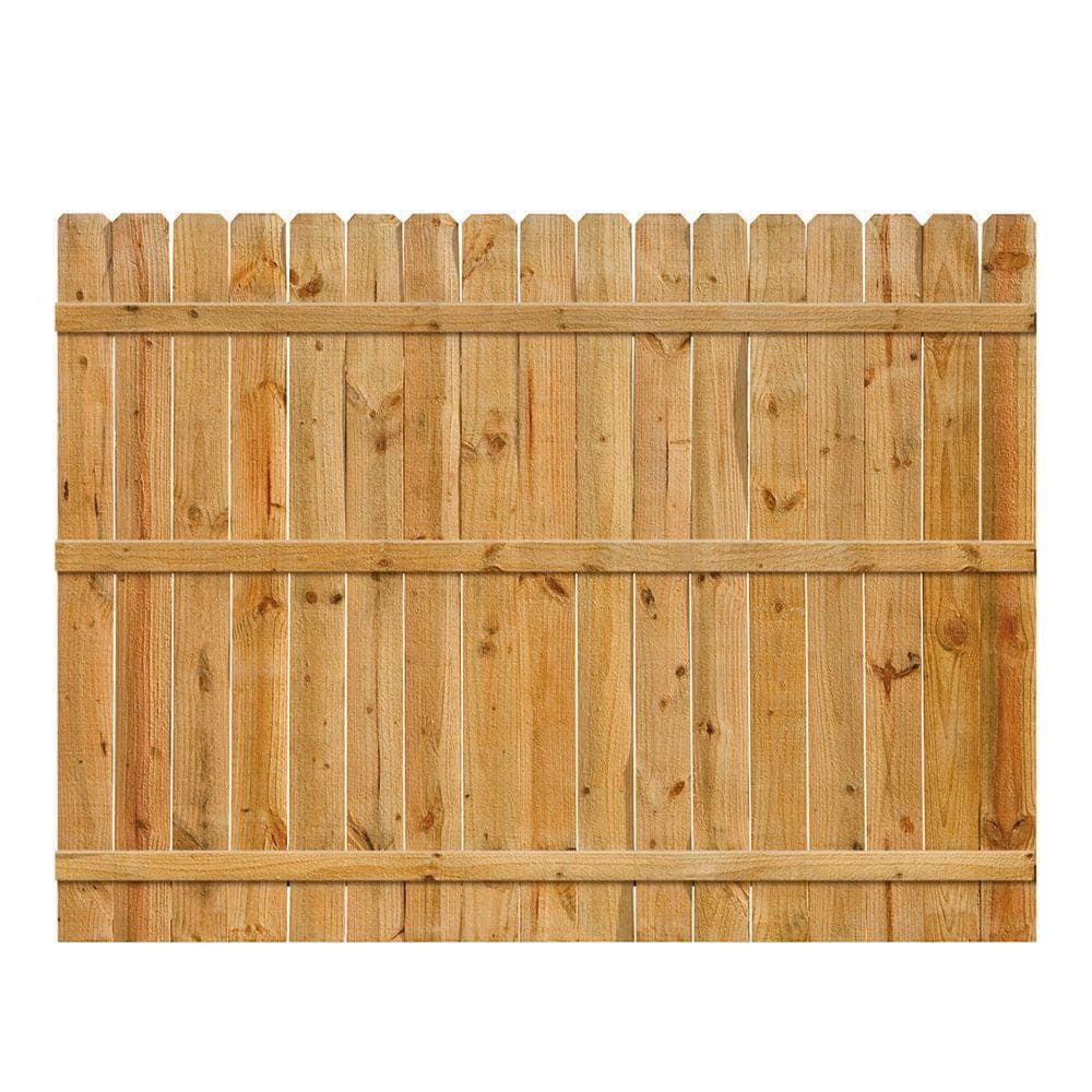6 ft. H x 8 ft. W Cedar Dog-Ear Fence Panel