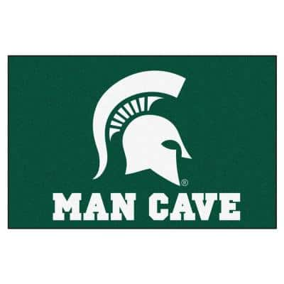 Michigan State University Green Man Cave 2 ft. x 3 ft. Area Rug