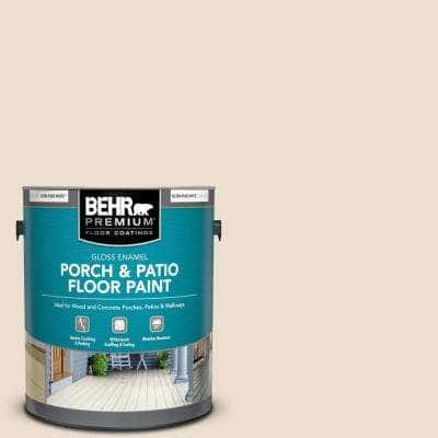 1 gal. #W-F-120 Natural Linen Gloss Enamel Interior/Exterior Porch and Patio Floor Paint