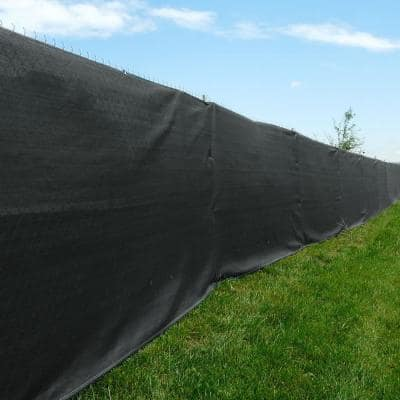 20 ft. x 50 ft. Black Privacy Screen Fence Netting Mesh with Reinforced Grommet for Chain Link Garden Fence