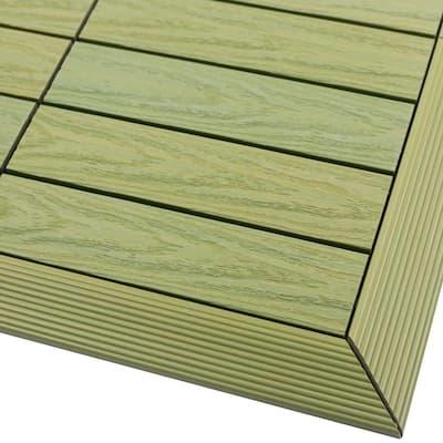 1/6 ft. x 1 ft. Quick Deck Composite Deck Tile Outside Corner Fascia in Irish Green (2-Pieces/Box)