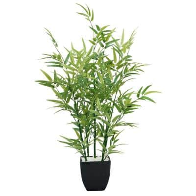 29 in. Tabletop Mini Bamboo Plant in Planter