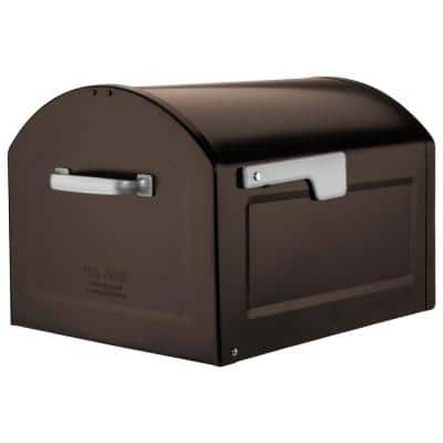 Centennial Rubbed Bronze with Silver Flag Extra Large Capacity Post Mount Mailbox